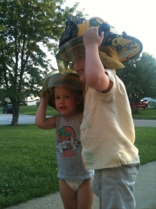 Future Firefighter, firefighting boys